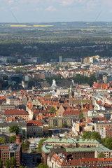 Breslau  Polen  Blick vom Sky Tower Richtung Altstadt und Umland
