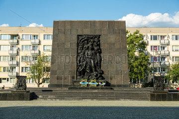 Warschau  Polen  das Warschauer Ghetto-Ehrenmal