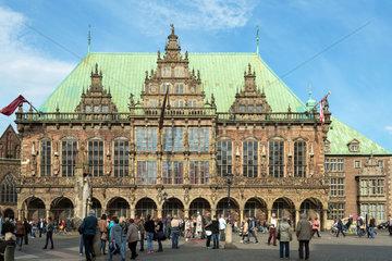 Bremen  Deutschland  das Rathaus am Marktplatz