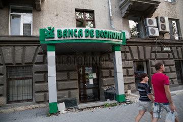 Kischinau  Republik Moldau  geschlosssene Filiale der Banca de Economii