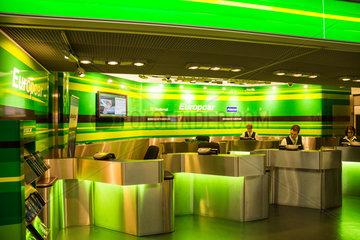 Stuttgart  Deutschland  Europcar-Autovermietung am Flughafen Stuttgart