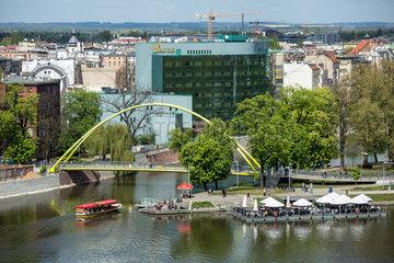 Breslau  Polen  Blick auf die Slodowa Insel