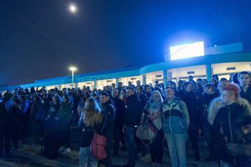 Breslau  Polen  Menschenmenge bei einem gratis Open-Air-Konzert