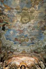 Breslau  Polen  Wandmalereien in der Aula Leopoldina im Museum der Universitaet Breslau