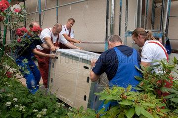 Berlin  Deutschland  ein Zuhausekraftwerk von Lichtblick wird geliefert