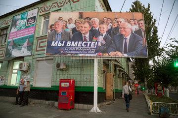 Bender  Republik Moldau  Plakat zum Referendum zur Unabhaengigkeit