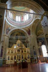 Chitcani  Republik Moldau  Ikonostase in der Himmelfahrtskirche des Kloster Neu-Niamtz