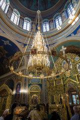 Chisinau  Moldau  Kronleuchter der Kathedrale der Geburt des Herrn