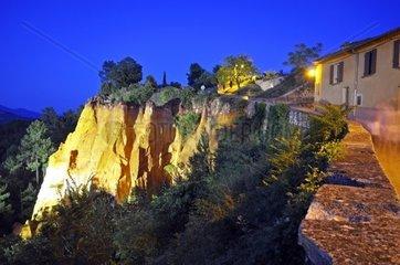 France  Provence alpes cote d'azur  Vaucluse  Luberon  Roussillon  old ochre quarry