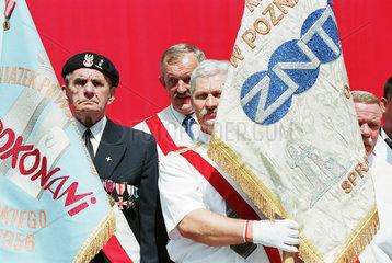 Veteranen des Posener Arbeiteraufstands im Juni 1956 (28.6.) begehen 50. Jahrestag