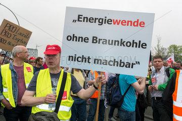 Berlin  Deutschland  Demonstration gegen Arbeitsplatzverlust durch Energiewende