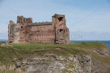North Berwick  Grossbritannien  Blick auf Tantallon Castle