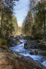Oberstdorf  Deutschland  der Oybach im Oytal