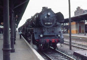 Stendal  DDR  die 41 1180 im Bahnhof Stendal