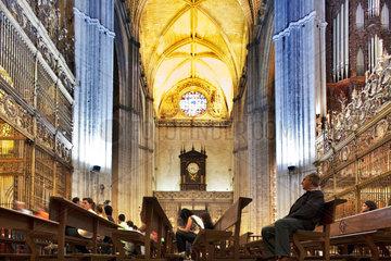 Sevilla  Spanien  die Kathedrale Santa Maria de la Sede  Innenraum