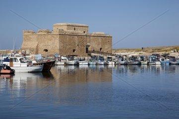 Cyprus  Kato Paphos  Castle  Harbour and Boats