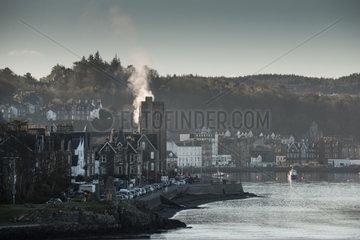 Corran  Grossbritannien  Blick auf die Stadt