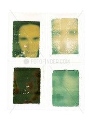Vier Polaroids