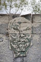 Droegen  Deutschland  Wandbild mit dem Portraet von Lenin