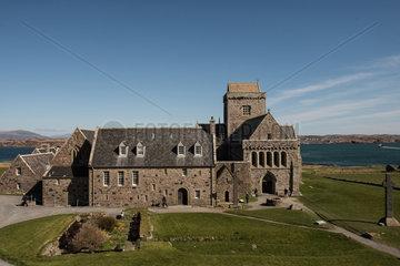 Baile Mor  Grossbritannien  das Kloster Iona Abbey auf der Insel Iona in Schottland