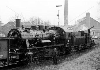 Stolberg  BRD  Baureihe der 55 3345 im Bw Stolberg