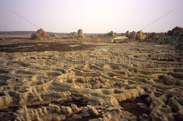Ethiopia  Dancalia  salt basin