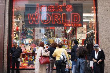 New York City  USA  Schaufenster von Jacks World