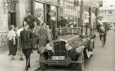 Polizeifahrzeug in Wernigerode  1930