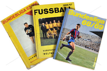 alte Fussball-Sammelalben  1965 bis 1969