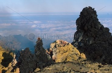 Sicily  Etna volcano  the south east crater