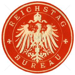 Reichstag Bureau  Amtssiegel  1890