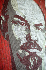 Gross Doelln  Deutschland  Mosaik eines Leninportraets