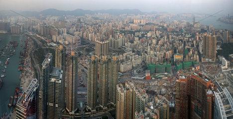 Hong Kong  China  Blick auf den Stadtteil Kowloon