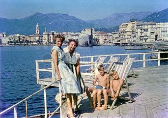 deutsche Touristen  Urlaub in Rapallo  Italien  1959