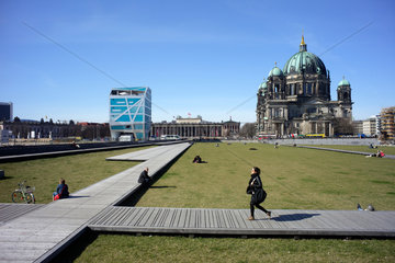 Berlin  Deutschland  Schlossplatz in Berlin-Mitte