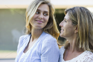 Mother and grown-up daughter