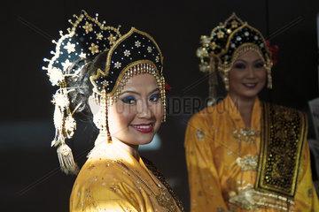 Tourismusmesse  malaysische Frauen
