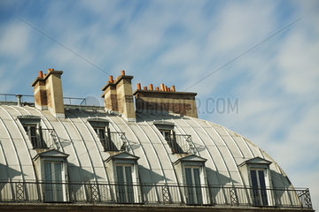 Rooftop chimneys  Paris  France