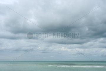 Stormy skies over sea