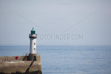 Lighthouse at Le Palais  Belle-Ile-en-Mer  Morbihan  Brittany  France
