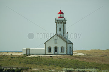 Poulains Lighthouse  Pointe des Poulains  Belle-Ile-en-Mer  Morbihan  Brittany  France