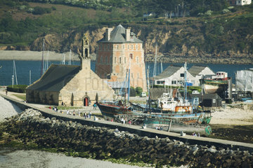 Our Lady of Rocamadour and Tour Vauban  Camaret-sur-Mer  Finistere  Brittany  France
