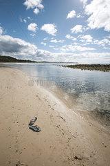 Flipflops left on beach