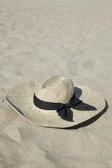 Straw hat on beach