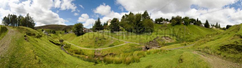 Wanlockhead  Grossbritannien  Wanlockhead ist Schottlands hoechste Ortschaft