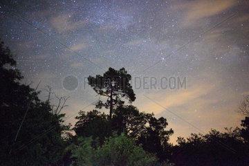 Monpazier  Frankreich  Sternenhimmel und Galaxie bei Monpazier
