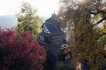Trendelburg  Deutschland  Gaestehaus der Burg Trendelburg  Rapunzelturm