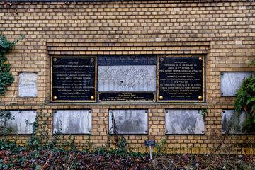 Berlin  Deutschland  Grabstaette der Familie des Chirurgen Johann Gottlieb Zenker