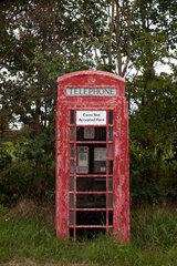 North Somercotes  Grossbritannien  alte rote Telefonzelle