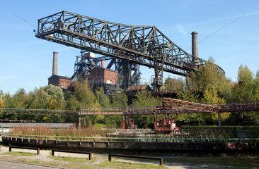 Duisburg  Deutschland  der Landschaftspark Duisburg-Nord  ein stillgelegtes Huettenwerk